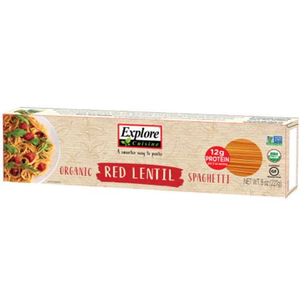 explore cuisine red lentil spaghetti vegan glutenvrij