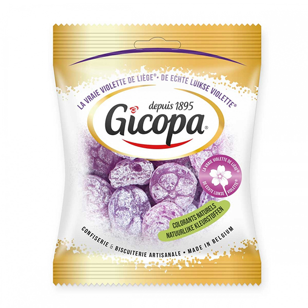 Gicopa Violette de Liège Luikse Violetjes vegan snoep100gr
