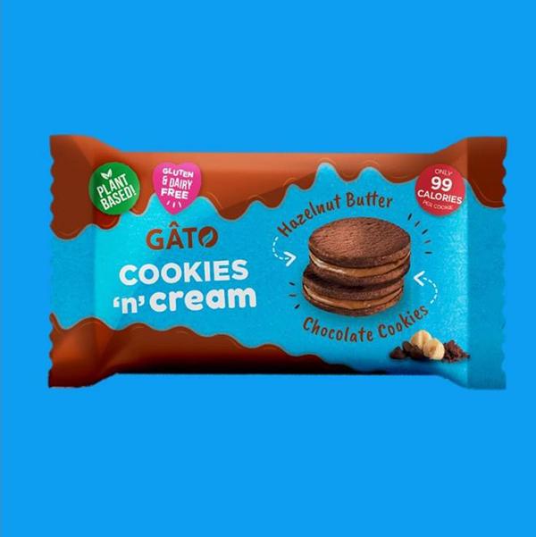 gâto choc hazelnut cookies 'n' cream vegan glutenvrij koekje