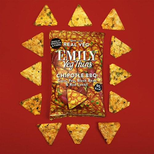 Emily Veg Thins Chipotle BBQ vegan chips 23gr