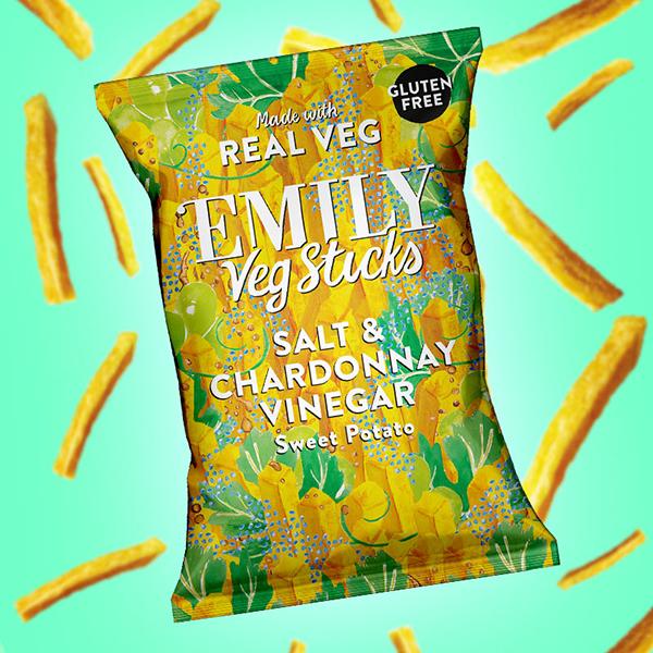 Emily Veg Sticks Salt & Chardonnay Vinegar 35gr vegan