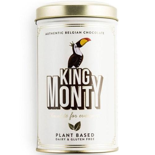 vegan melkchocolade classic cacao king monty tin 130gr