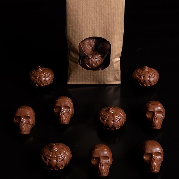 vegan halloween choclade pralines Loulou's Chocolate 160gr