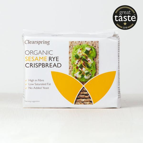 clearspring sesame rye crispbread vegan 200gr