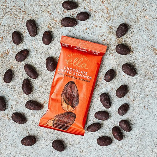 chocolate orange dipped almonds deliciously ella vegan