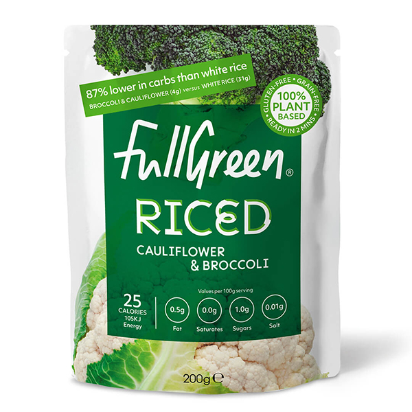 fullgreen riced cauliflower broccoli vegan 200gr
