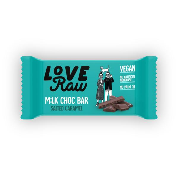 loveraw mlk choc bar vegan chocolade 30gr