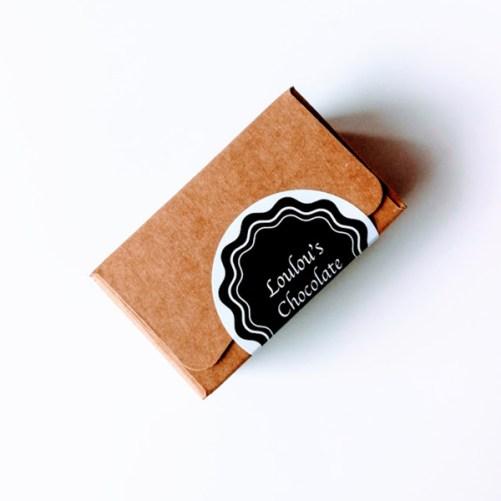 vegan pralines van Loulou's Chocolate mini doosje 40gr