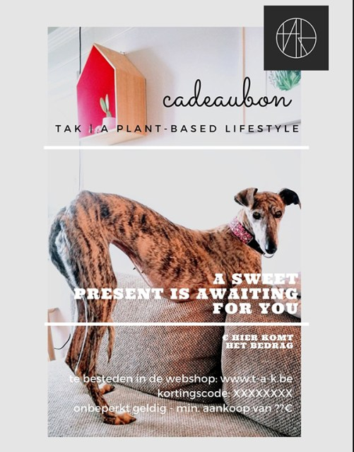 cadeaubon bij tAK a plant-based lifestyle