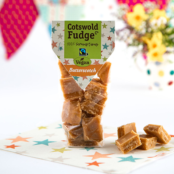 vegan butterscotch fudge Cotswold Fudge Co vegan 150gr