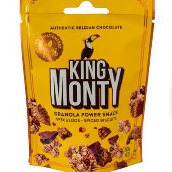 King Monty Granola Speculoos vegan power snack 50gr