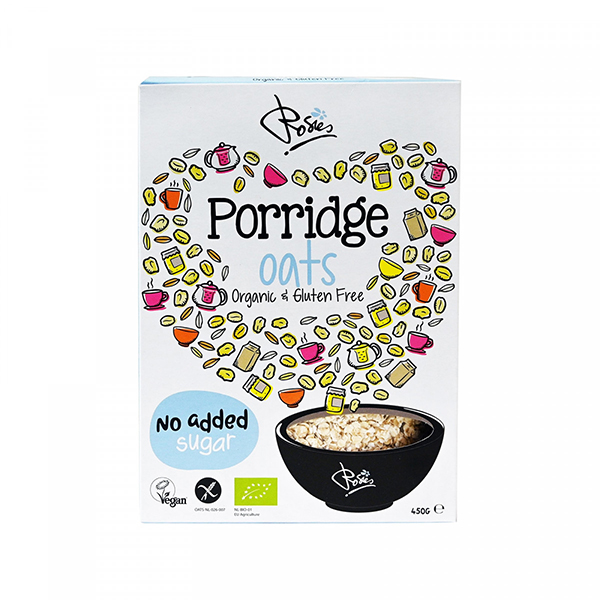 Rosies Porridge Oats glutenvrije havermoutvlokken 450gr