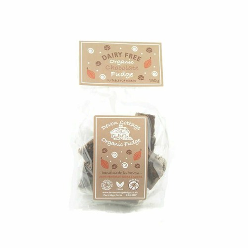 devon cottage chocolate fudge vegan lactosevrij 150gr