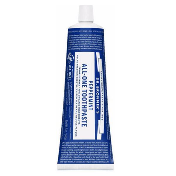Dr Bronner Peppermint Toothpaste vegan tandpasta zonder fluoride