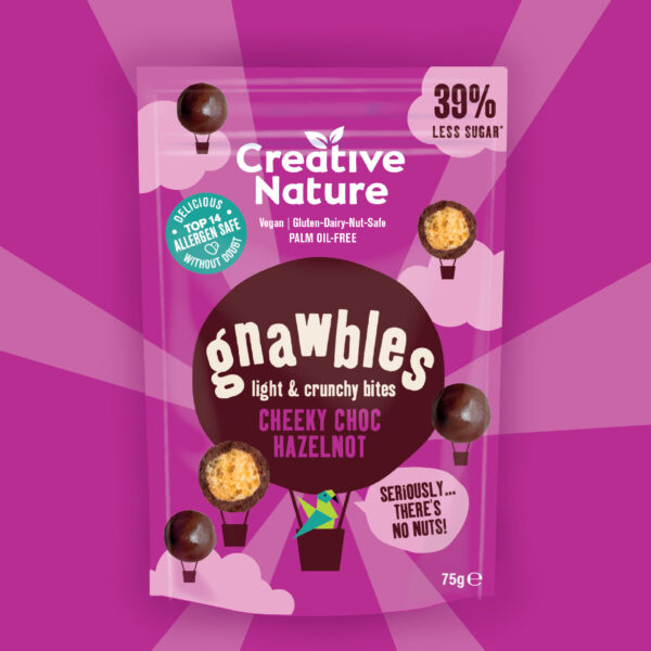 Gnawbles Cheeky Choc HazelNOT Creative Nature allergeenvrij, vegan