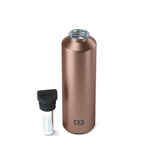 monbento insulated bottle cuivre waterfles thermos 500ml