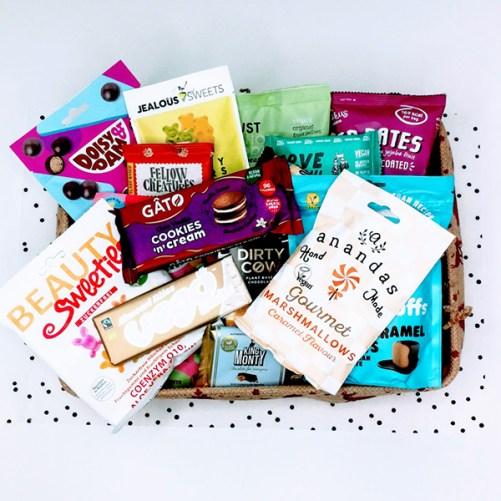 vegan gift box chocolade en snoep 1000gr