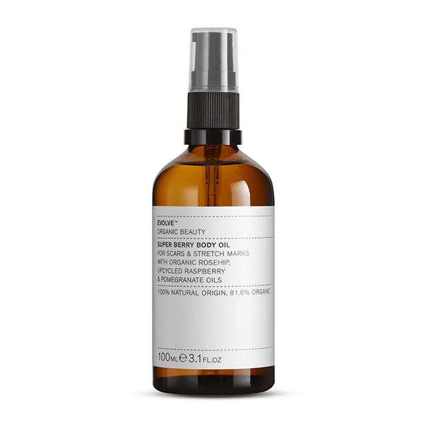 evolve super berry bath and shower oil vegan douche- en badolie