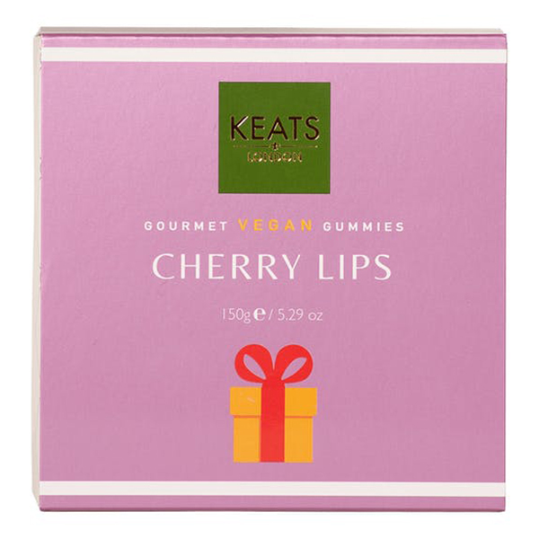 keats vegan cherry lips gummies 150gr