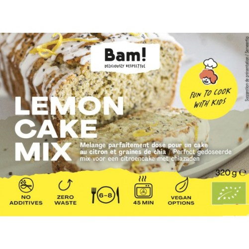 bam lemon cake mix vegan bakmix