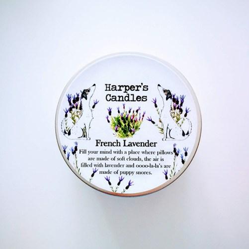 harpers candles french lavender vegan geurkaars
