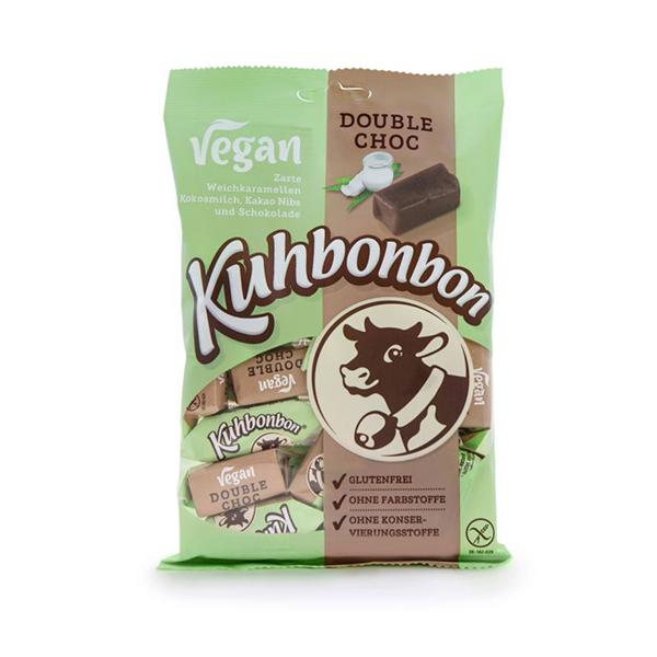 kuhbonbon vegan double choc caramel 165gr