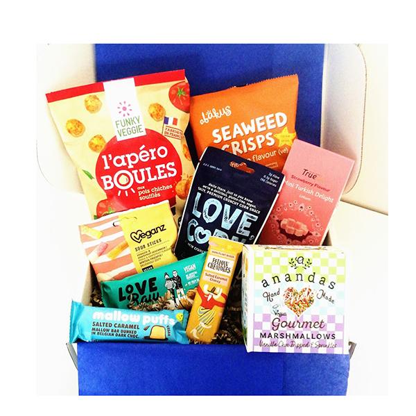 gift box vegan goodies tak a plant-based lifestyle
