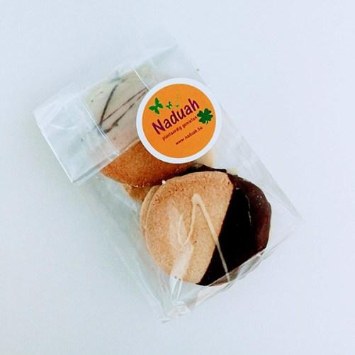 naduah vegan zandkoekjes met laagje chocolade 100gr lactosevrij