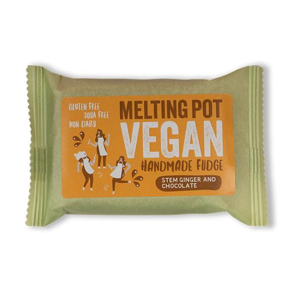 melting pot fudge ginger & chocolate vegan fudge 90gr
