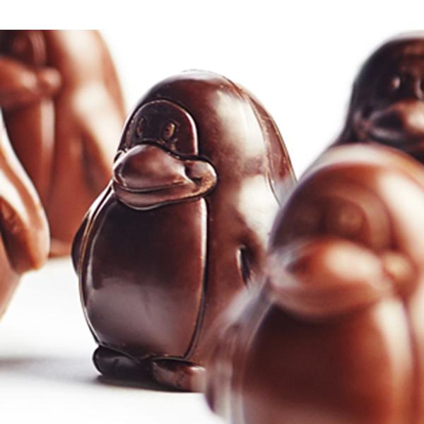 loulou's chocolate vegan pinguins 100gr