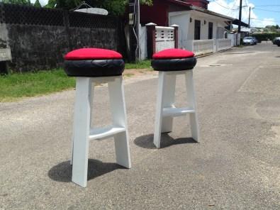 Tabouret en palette & pneus - Guyane