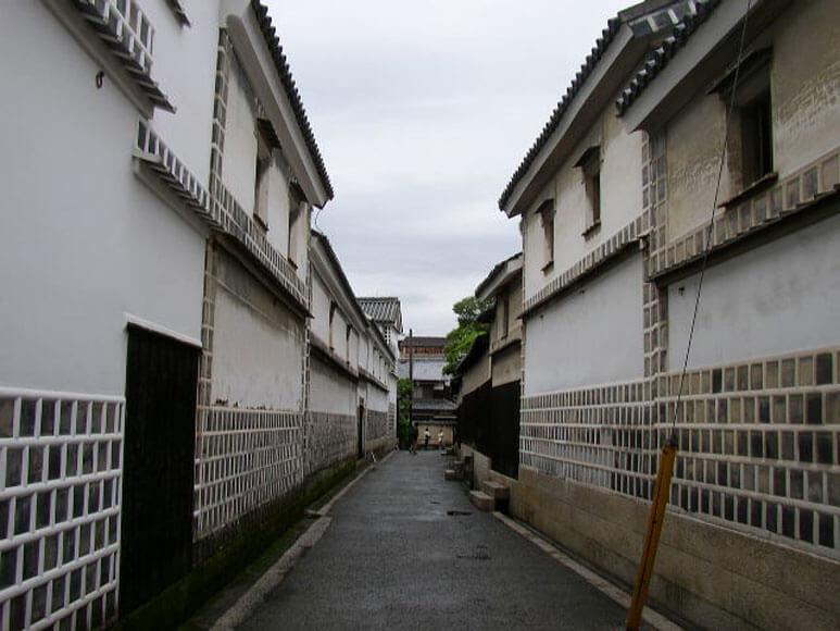 岡山県旅行観美観地区白壁