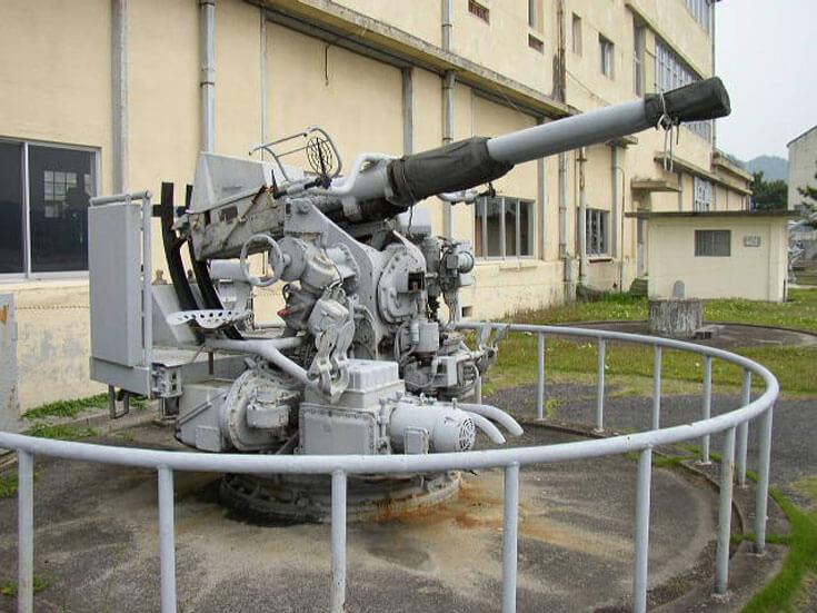 広島県旅行観光江田島海上自衛隊第1術科学校対空砲