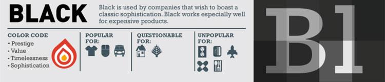 perpaduan warna logo hitam