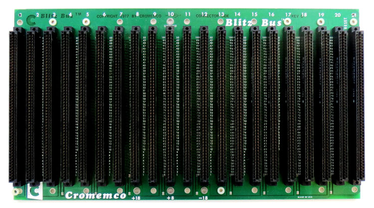 altair 8800 s-100 backplane