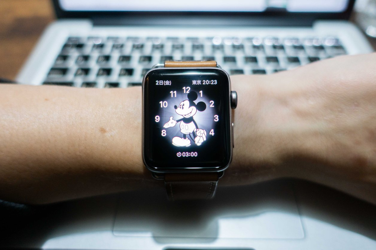 Apple Watchミッキー文字盤