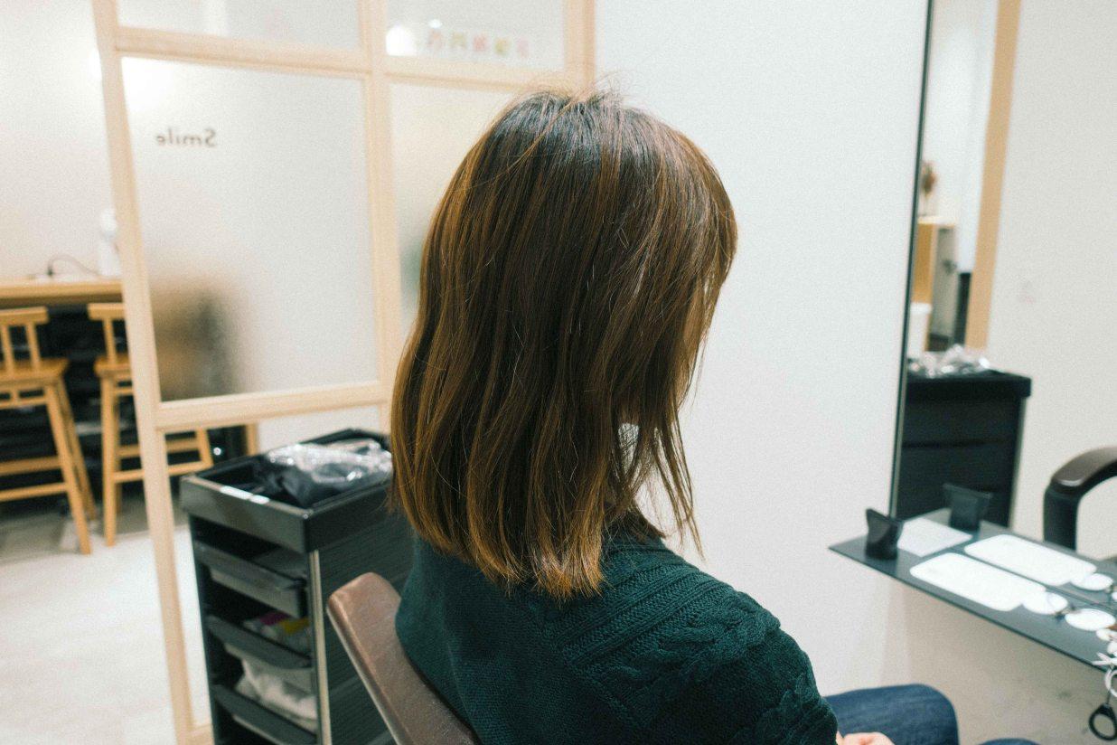 髪型ビフォー