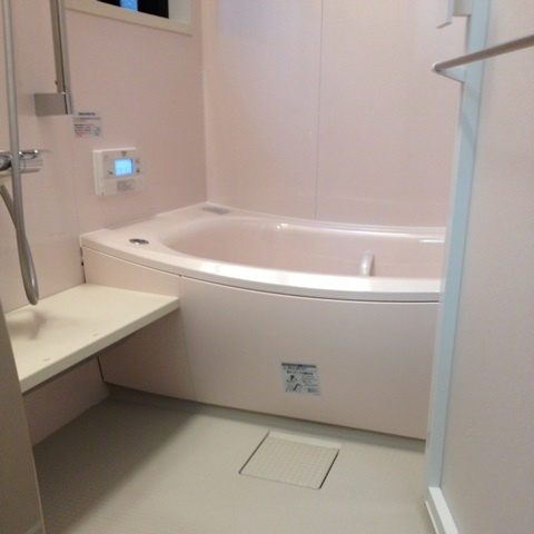 クレイドル浴槽人工大理石でピンク