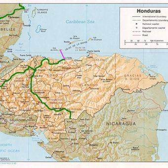 Carte Honduras map itineraire Utila 7 jours