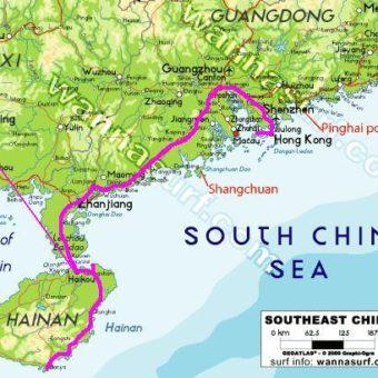 Carte Chine map china trajet