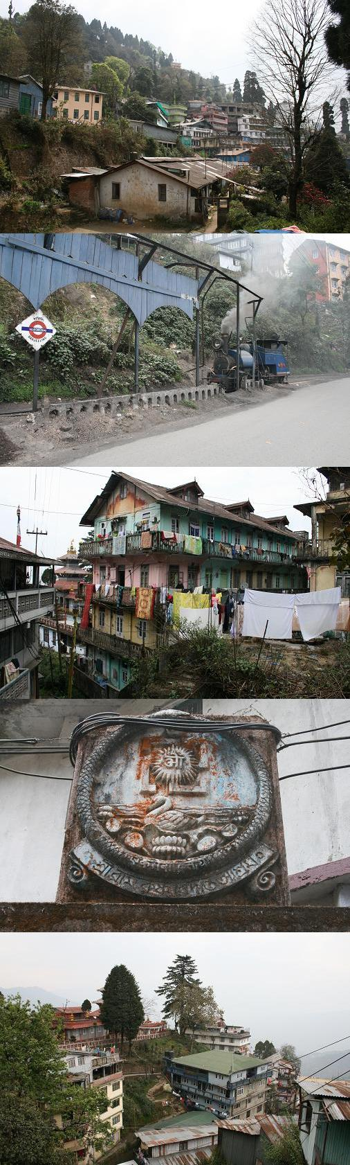 """Darjeeling town and """"toy train"""""""