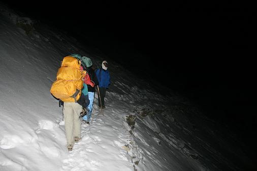 3h30 a.m we climb to the top
