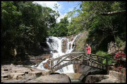 Nice waterfall in Dalat's forest