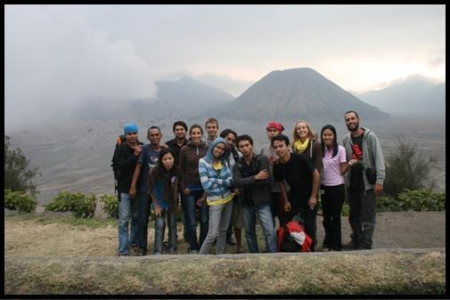 Indonesian crew in Mt Bromo