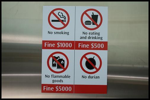 Singapore rules no stinky durian