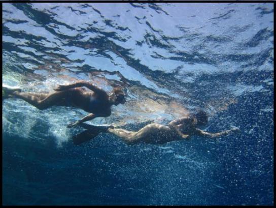 Natus & Any snorkling