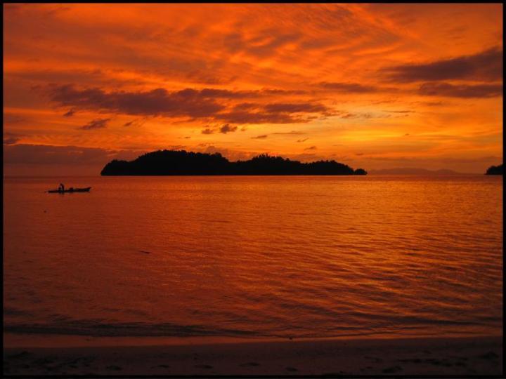 Togian island sunset