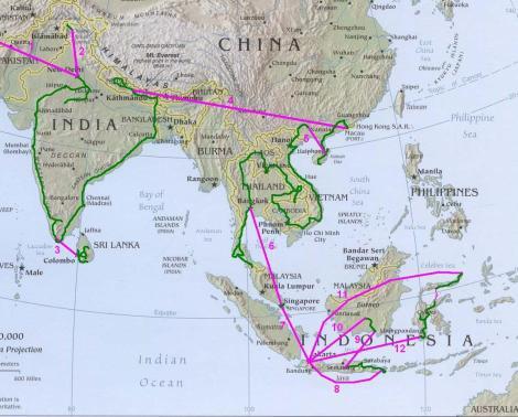 Asie carte Asia map