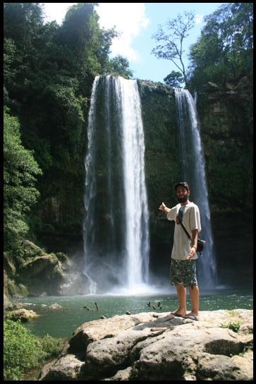 Mizol Ha waterfall front
