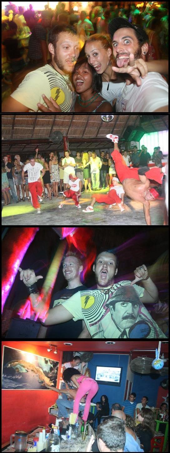 Party at Playa del carmen